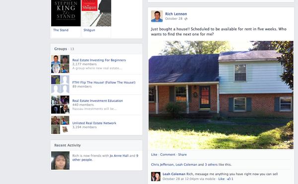 wholesaling on Facebook
